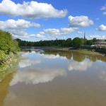 Preston City reflections on the Ribble