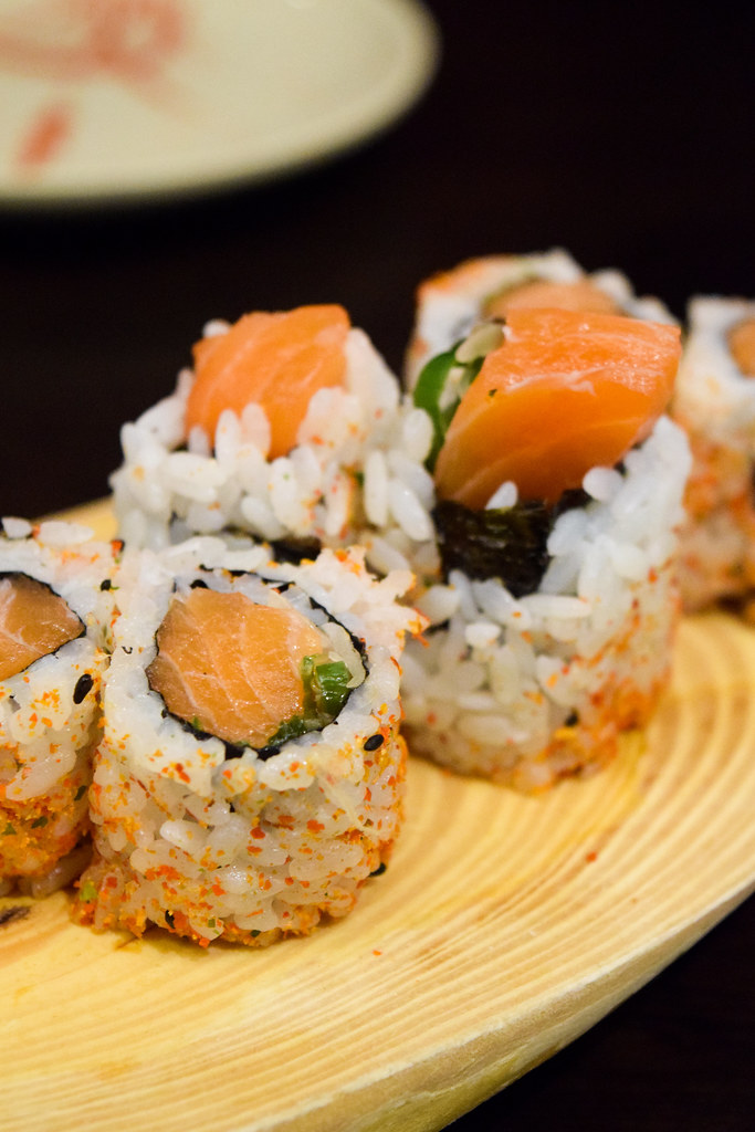 Spicy Salmon Roll at Eat Tokyo, Notting Hill Gate