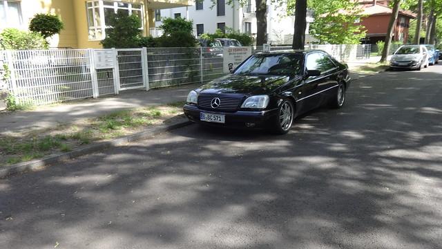 ab 1992 Oberklasse-Coupé CL600 von Daimler-Benz Baureihe C140 Wendenschloßstraße in 12557 Berlin-Wendenschloß