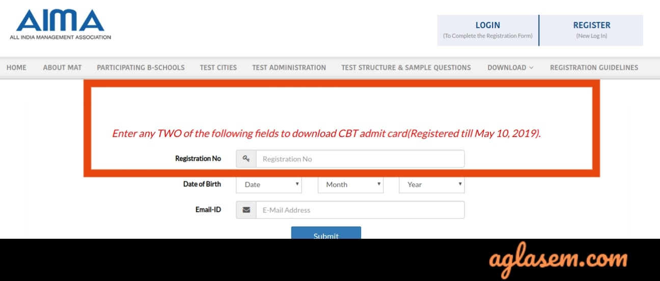 MAT 2019 Admit card for 18 May exam