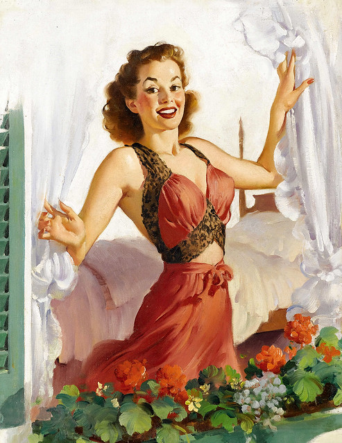 Painting by Gil Elvgren (unsigned but attributed)