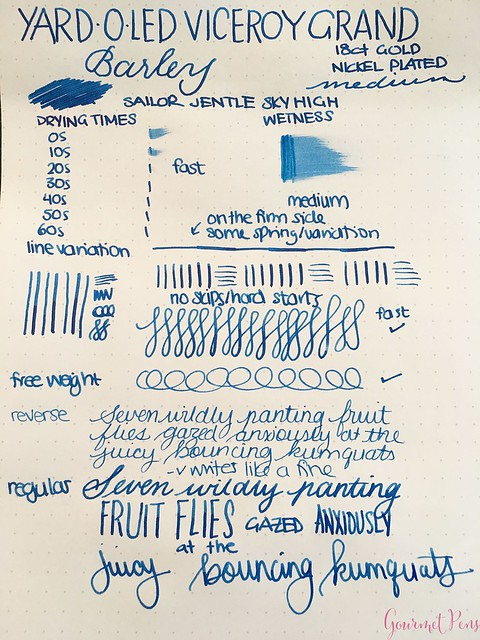 Yard-O-Led Viceroy Grand Barley Fountain Pen 27