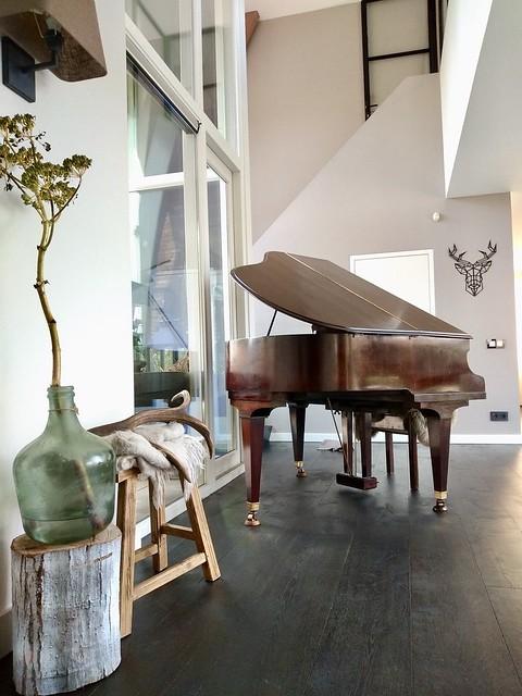 Vleugel piano in de woonkamer landelijk