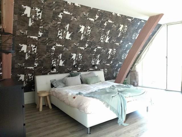 Boxspring muurdecoratie dierenprint