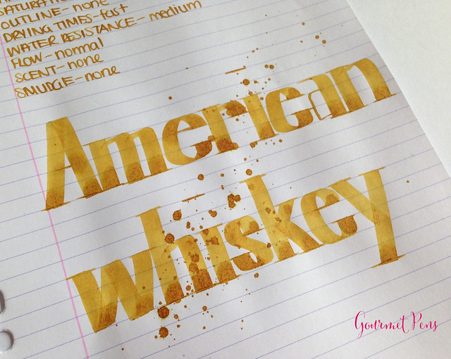 De Atramentis American Whiskey Gold Brown Ink Scented 6