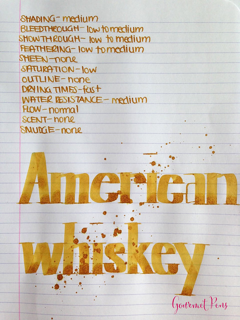 De Atramentis American Whiskey Gold Brown Ink Scented 5