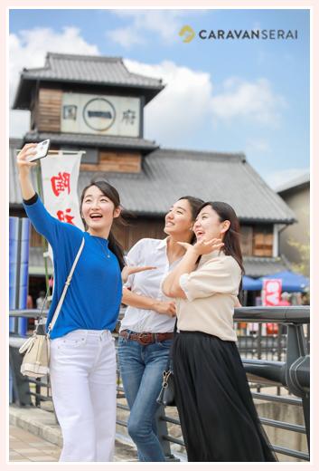 2018年のミスせとものの3人 愛知県瀬戸市