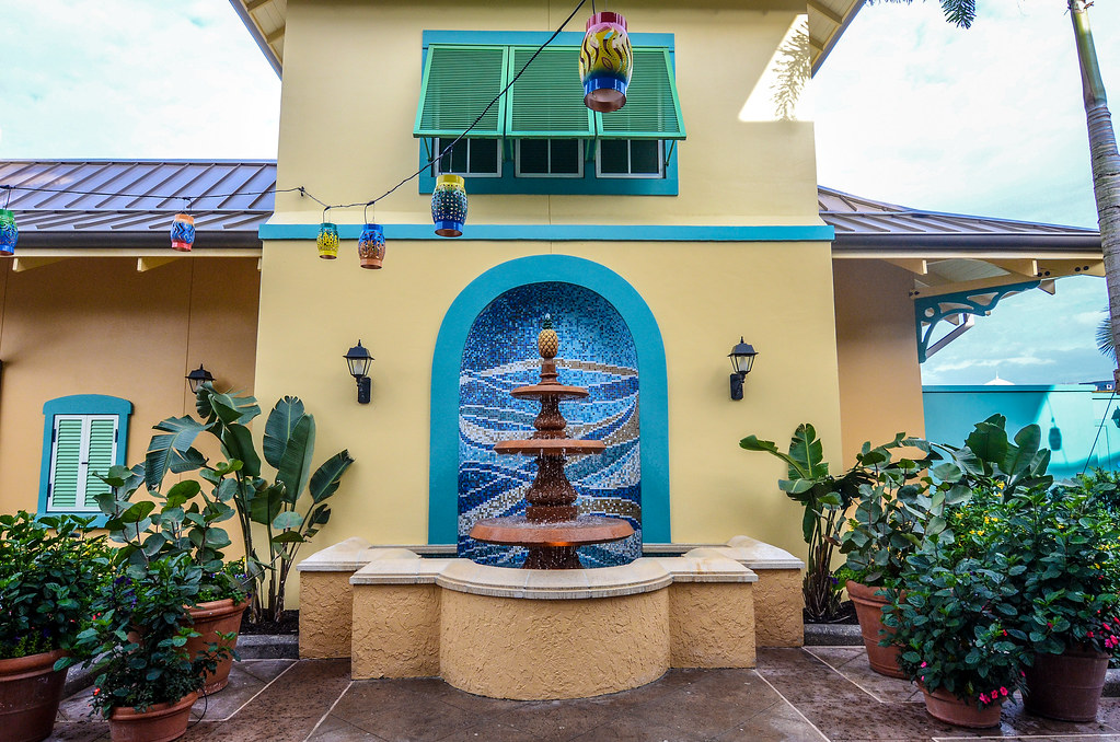 Caribbean Beach fountain