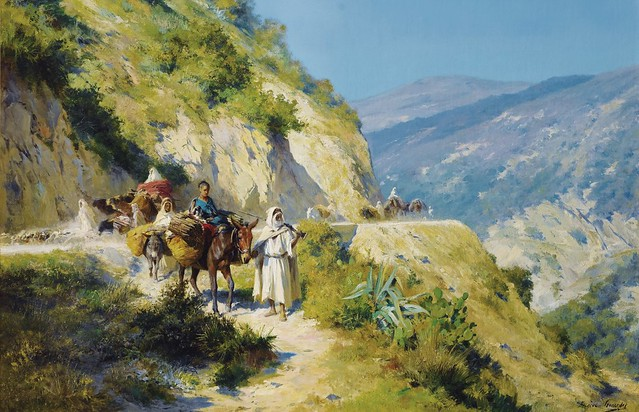 Le Retour du Troupeau, Bogari - GIRARDET Eugène-Alexis