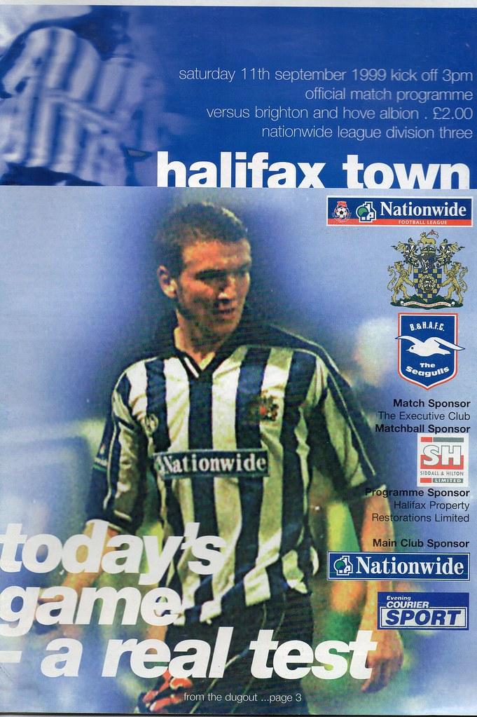 11-09-1999 Halifax Town 2-1 Brighton & Hove Albion 1 Chris Newton