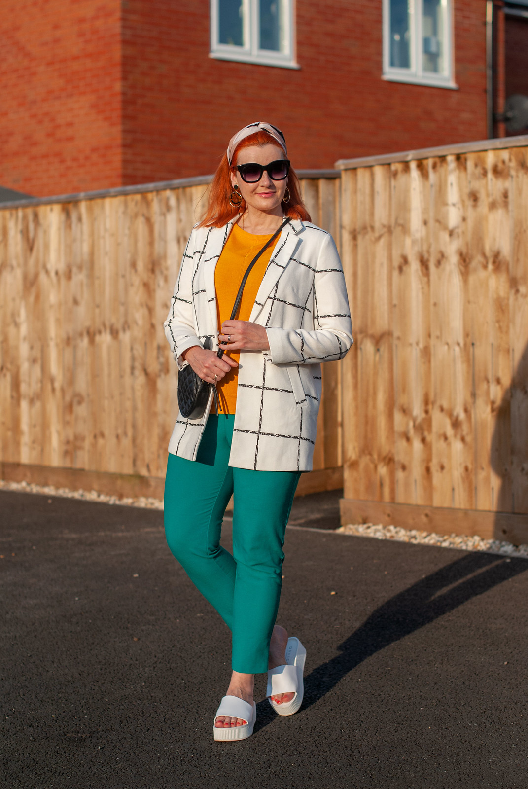 Fashion Over 40: Why You Should Try Orange, Green and White (and Marmite Shoes)   Not Dressed As Lamb, over 40 style blog