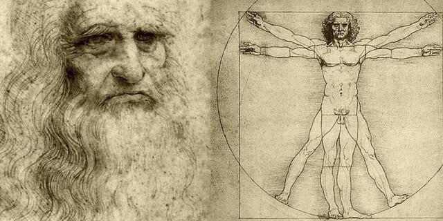 Leonardo da Vinci y uno de sus dibujos más conocidos