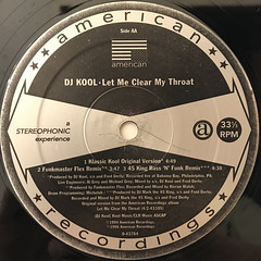 DJ KOOL:LET ME CLEAR MY THROAT(LABEL SIDE-B)
