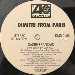 DIMITRI FROM PARIS:SACRE FRANCAIS(LABEL SIDE-D)