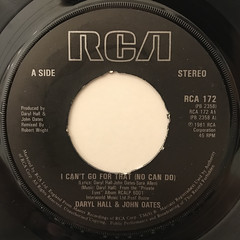 DARYL HALL & JOHN OATS:I CAN'T GO FOR THAT(NO CAN DO)(LABEL SIDE-A)