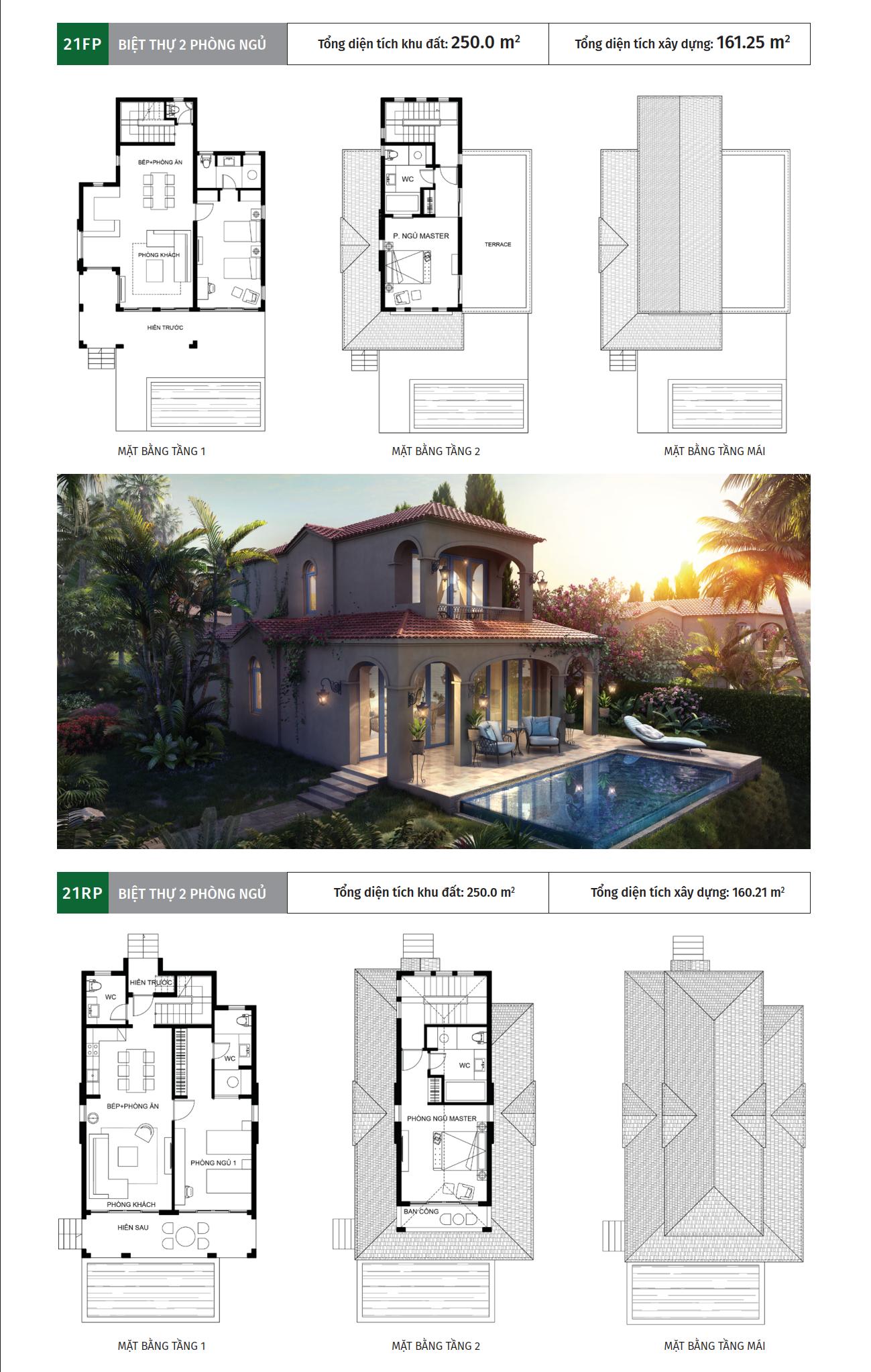 Nhà mẫu biệt thự 2 phòng ngủ dự án NovaHills Mũi Né