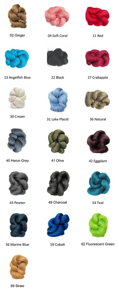 Euroflax Sport - The best linen available! 100% Wet Spun Linen. Machine wash and dryable. Deliciously intense color. Lustrous drape. Soft hand. Perfect for warm-weather knitting or crocheting.