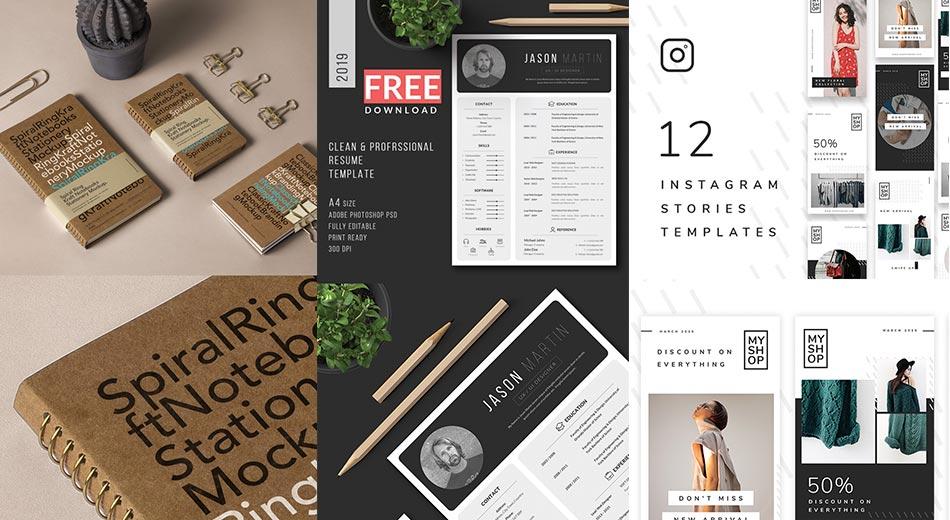 Útiles recursos gratuitos PSD de Photoshop para proyectos de diseño gráfico, UX y web