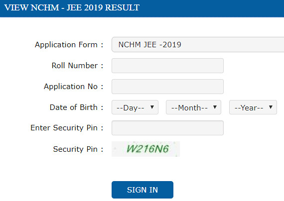 NCHMCT Result 2019