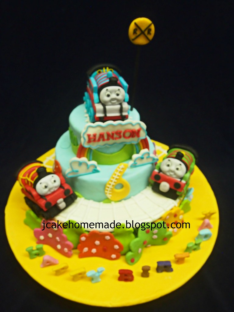 Pleasant Thomas And Friends Birthday Cake A Photo On Funny Birthday Cards Online Overcheapnameinfo