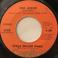 STEVE MILLER BAND:THE JOKER(LABEL SIDE-A)