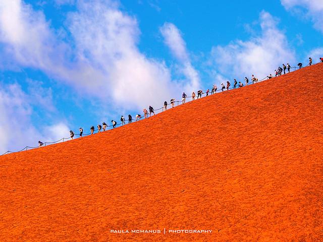 Uluru Ayers Rock climb