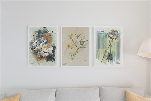 Mock up Image of three of my Floral Images