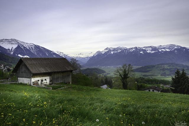 Mountain view from Gommiswald - St.Gallen - Switzerland