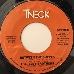 THE ISLEY BROTHERS:BETWEEN THE SHEETS(LABEL SIDE-A)