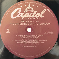 MELBA MOORE:THE OTHER SIDE OF THE RAINBOW(LABEL SIDE-B)