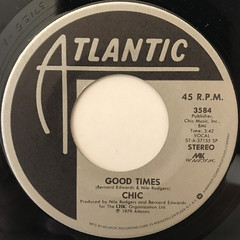 CHIC:GOOD TIMES(LABEL SIDE-A)