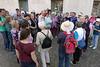 Gruppe mit Reiseleiter in Verona