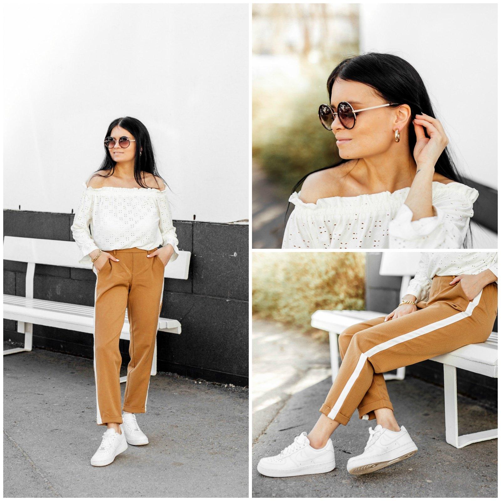 ruskeat naisten housut