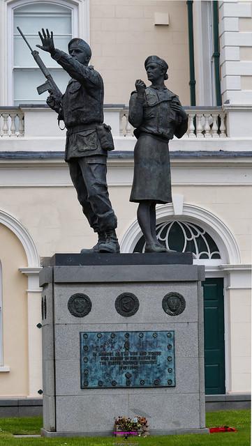 Ulster Defence Regiment memorial in Lisburn City