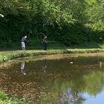 Fishing on the canal at Preston