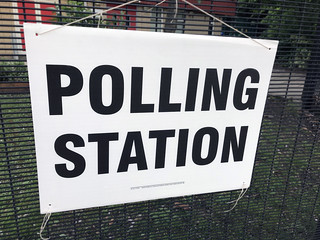 Polling Station sign stock photo image | by DPP Business and Tax