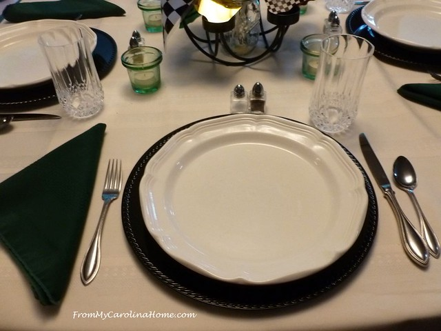 Race Day Tablescape at FromMyCarolinaHome.com