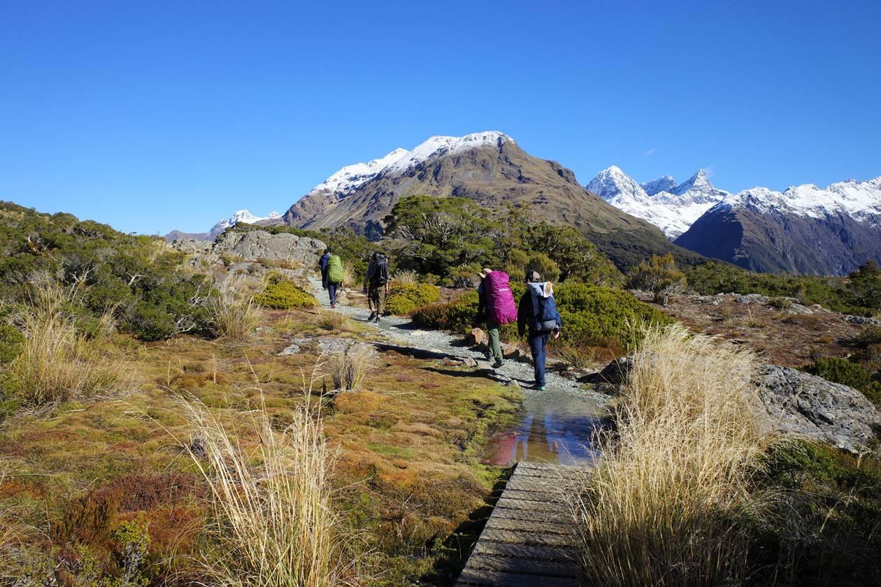 ニュージーランド ルートバーン登山