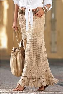 Long crochet skirt for this season (1)
