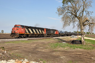CN 2413 west in Genoa, Illinois on May 16, 2019.
