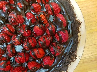 Double Chocolate Strawberry Pie