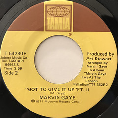 MARVIN GAYE:GOT TO GIVE IT UP(LABEL SIDE-B)