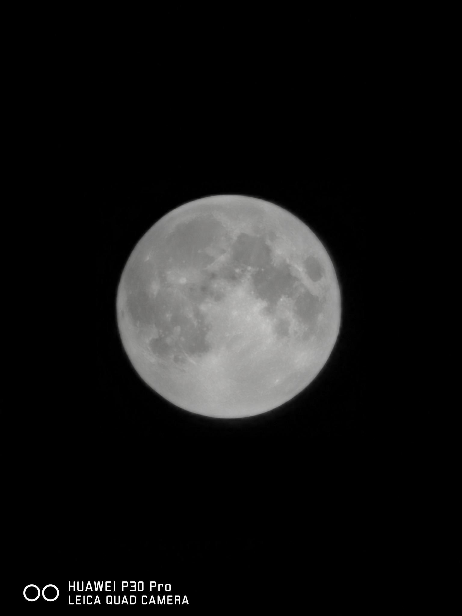 都來拍月亮試試看!華為 P30 Pro / P30 / Mate 20 x 望遠極限比一比 @3C 達人廖阿輝