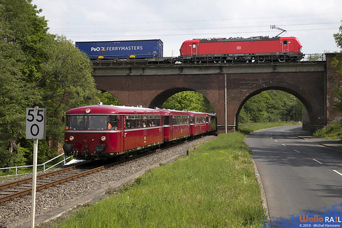 796 650 + 796 802 . VEB . 91655 . 193 339 DB Cargo 40218 . Eschweiler-West . 18.05.19. -picture assembly-