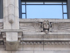New Amsterdam Under Window Winged Gargoyle 8444