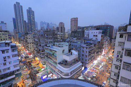 Sham Shui Po at night