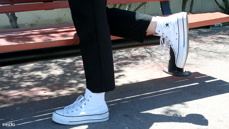 Converse blancas doble plataforma