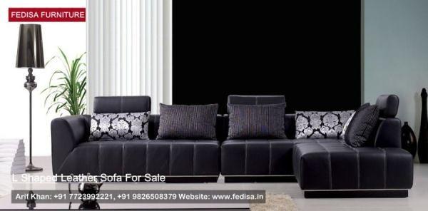 L Shape Sofa Set, L Shaped Couch, Blue Leather Sofa | Fedi ...