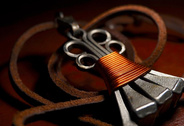 #Copper and leather Art #MacroMondays HMM