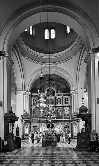 Choral singing in the Church of St. Nicholas, Kotor